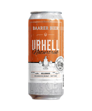Baarer Bier Urhell Naturtrüeb 4,8% Vol. 24 x 50cl Dose