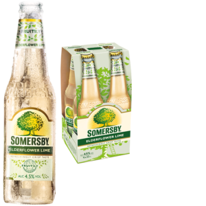 Somersby Elderflower Lime 4,5% Vol. 24 x 33 cl EW Flasche