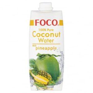 FOCO Pure Coconut Water mit Ananassaft 12 x 50cl Vietnam