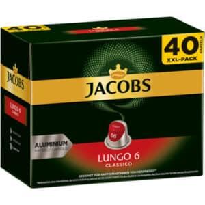 Jacobs Lungo 6 Classico, 5 x 40 Kapseln