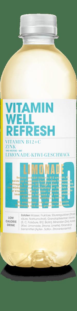 Vitamin Well Refresh  Limonade-Kiwi-Geschmack 12 x 50cl PET