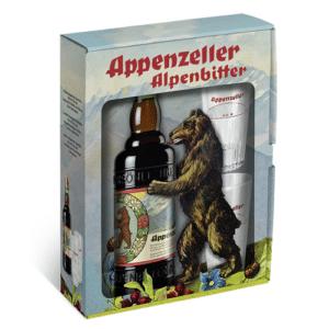Appenzeller Alpenbitter GP Retro 29% Vol. 50 CL plus 2 Gläser
