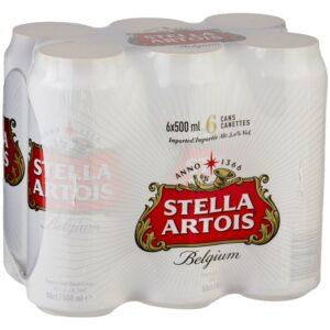 Stella Artois 5% Vol. 24 x 50 cl Dose Belgien