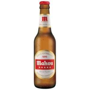 Mahou 1890 Cinco Estrellas Cerveza 5,5% Vol. 24 x 25cl EW Flasche Spanien