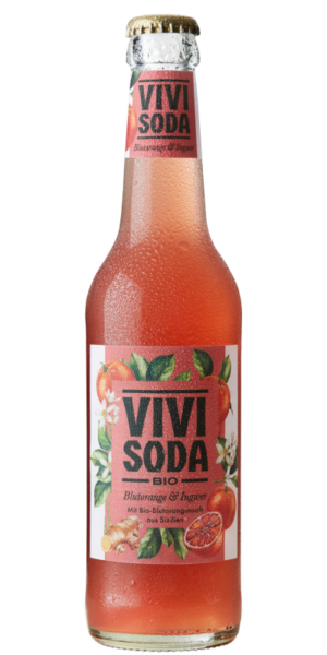 Vivi Soda Blutorange / Ingwer 24 x 33cl MW Flasche