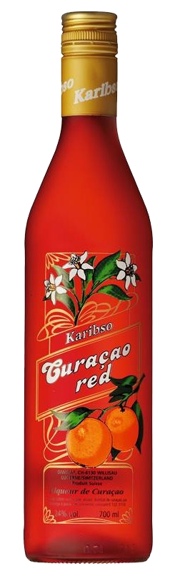 Karibso Curaçao red 24% Vol. 70 cl