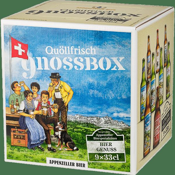Appenzeller GnossBox 9 x 33cl EW Flasche
