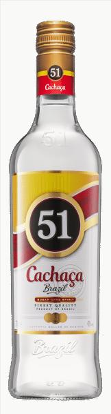 Cachaça 51 The Brazilian Zuckerrohrbranntwein 40% Vol. 100cl (so lange Vorat)