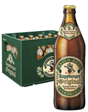 Hasen Bräu Augsburger original 5,4% Vol. 20 x 50cl MW Flasche