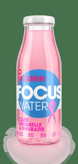 Focus water Care Mirabelle und Rhabarber mit Grüntee Extrakt 20 x 50 cl MW Flasche