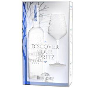 Belvedere Vodka Pure mit Spritz Glas 40% Vol. 70 cl Polen