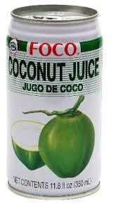 Foco Coconut Water 100% pure 24 x 35cl Dose Vietnam