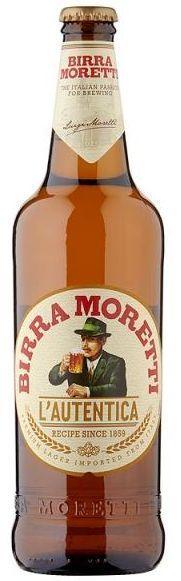 Birra Moretti Lager 4,6% Vol. 15 x 66 cl EW Flasche