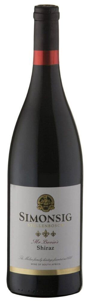 Mr. Borio's Shiraz WO Stellenbosch Simonsing 14.5% Vol. 75cl