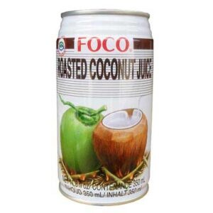 "Foco Coconut Water ""Roasted"" 100% pure 24 x 35cl Dose Vietnam"