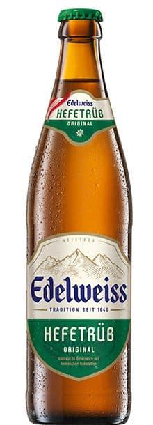 Edelweiss Hefetrüb Original 5,3% Vol. 20 x 50cl MW Flasche Österreich