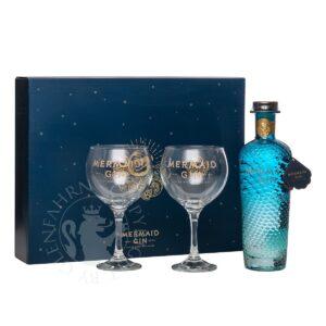 Gin Mermaid mit 2 Gläsern 42% Vol. 70cl Grossbritanien
