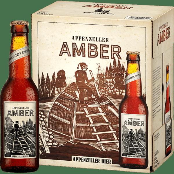 Appenzeller Amber 4,8% Vol. 6 x 33cl EW Flasche