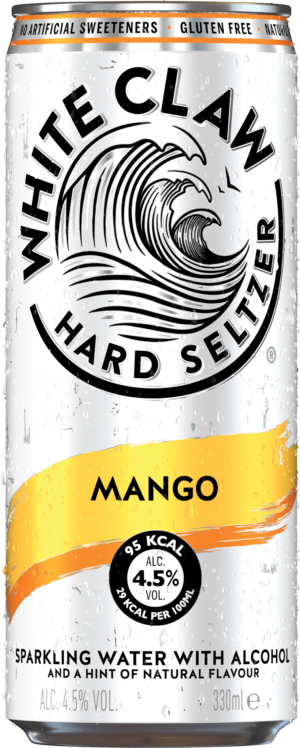 White Claw Hard Seltzer Mango 4.5% Vol. 12 x 33cl Dose
