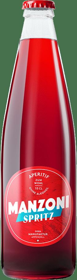 Manzoni Spritz, Aperitif ohne Alkohol 0.0% Vol. 24 x 33cl MW Flasche