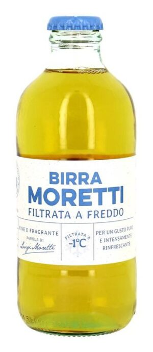 Birra Moretti Filtrata a freddo 4.3% Vol. 24 x 33 cl EW Flasche